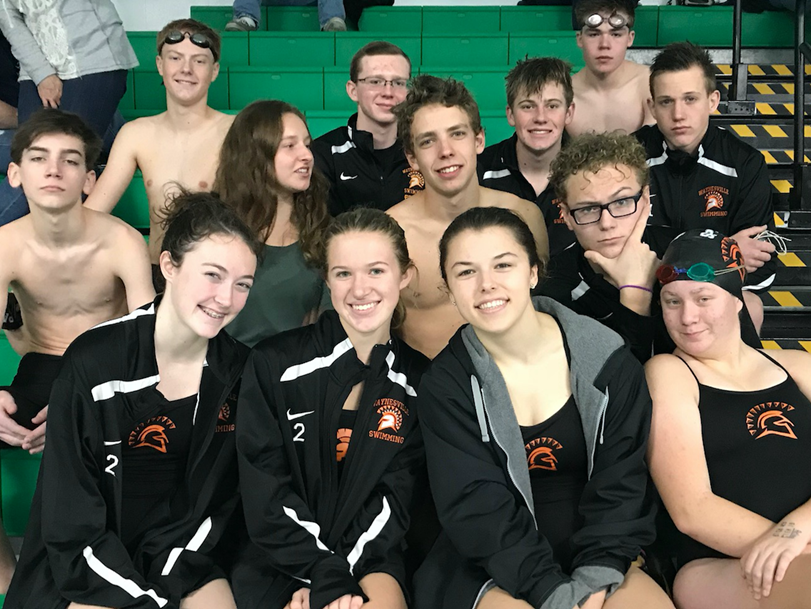 swim team of boys and girls